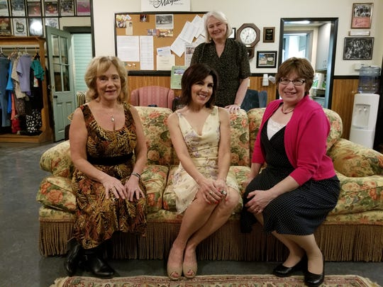 "The ladies of the ""Rose Cottage B & B,"" from left: Cindy Bradley as Victoria Ambrose, Vicki Svacina as Charmaine Beauregard, and Ann Wolf as Hilary Hudson. Standing is Mary Kaufmann as Mrs. Stancliffe. Manitowoc's The Masquers theater group presents ""Sex Please, We're Sixty"" Feb. 21-23."