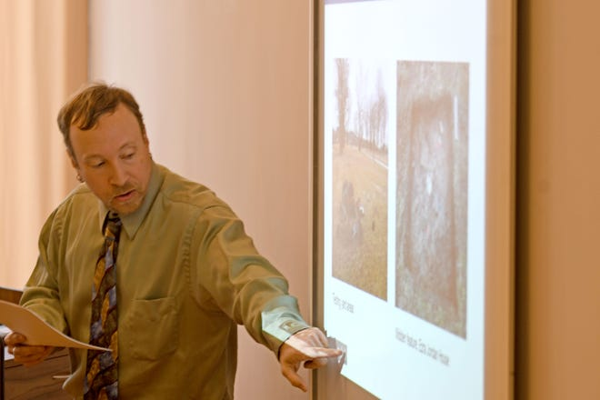 Andrew Sewell of Lawhorn & Associates presented his research about the former Company Line neighborhood and shared artifacts from the archaeological excavation. Sewell's presentation at the NECIC was in honor of Black History Month.