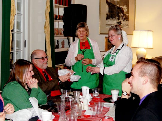Diners get ready to enjoy a meal at a previous Big House Valentine's Bash at Malabar Farm.