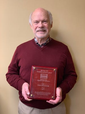 Ted Graham received the Pam Hall Betterment of Marion Award from the Marion Area Chamber of Commerce on Friday.