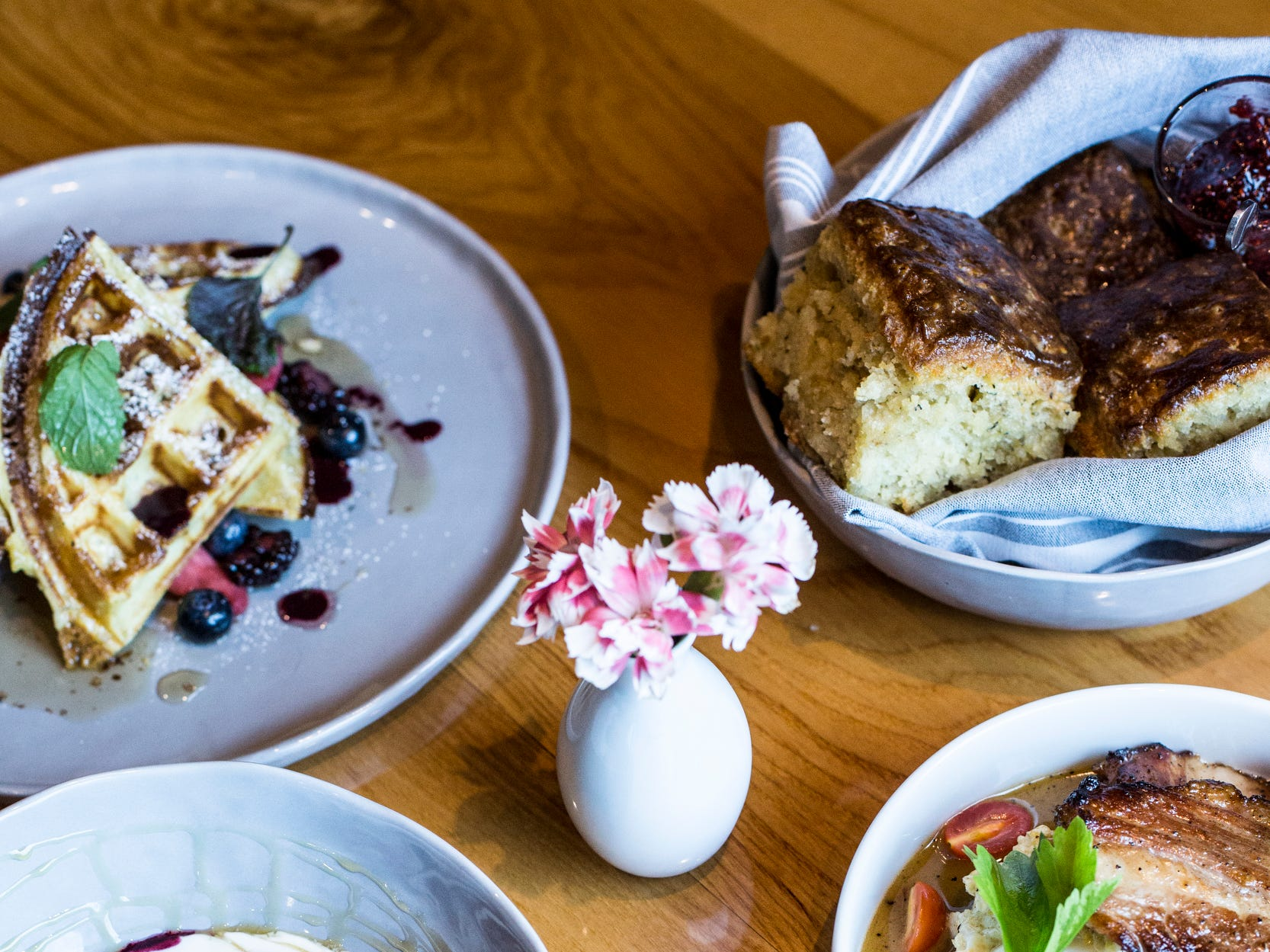 February 10, 2019 - A variety of plates available during Sunday brunch are seen at PO Press Public House & Provisions in Collierville. PO Press Public House & Provisions is located at 148 N Main St. in Collierville.