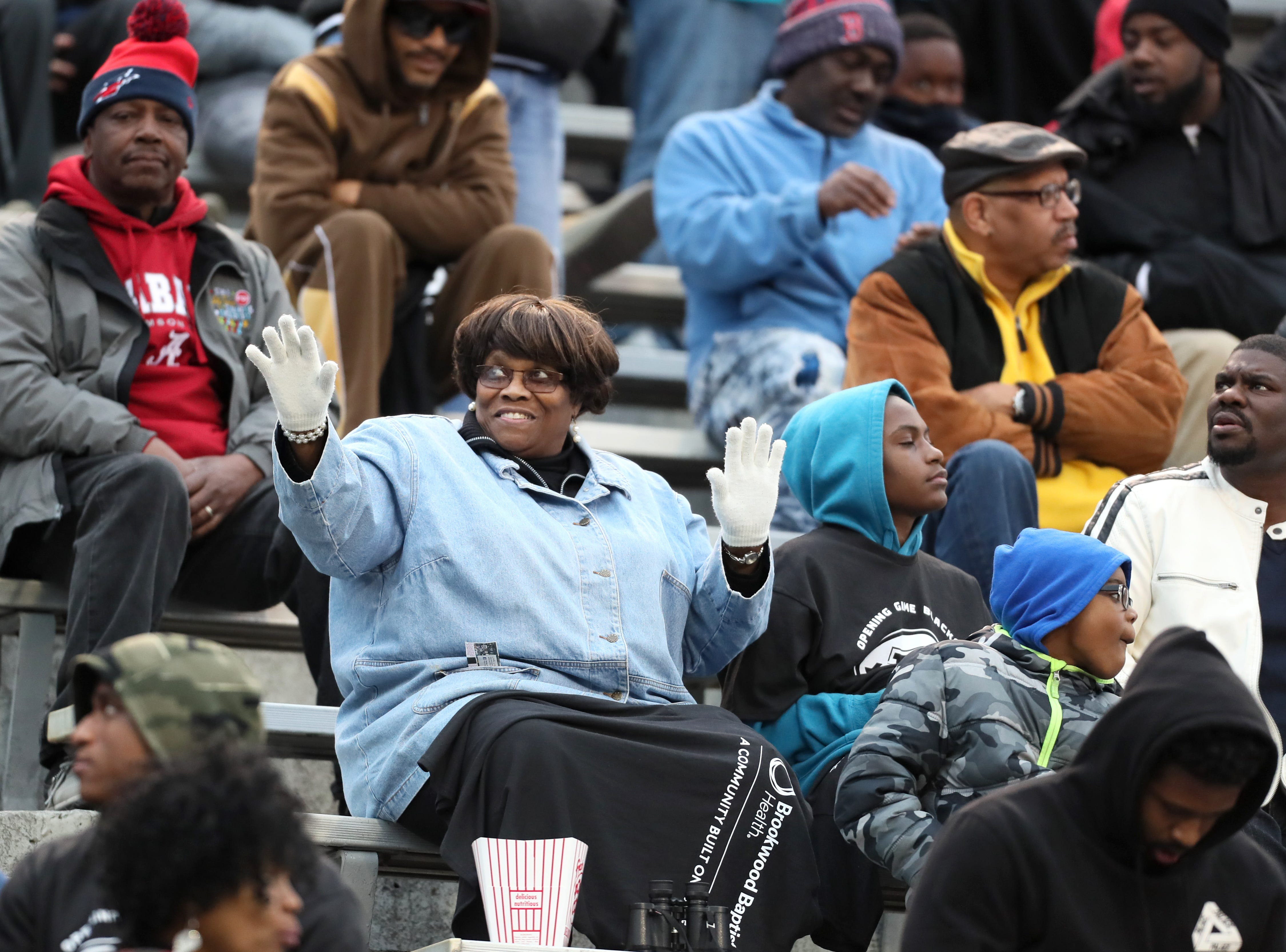 Fans watch as the Memphis Express take on the Birmingham Iron at Legion Field in Birmingham, Ala. on Sunday, Feb. 10, 2019.