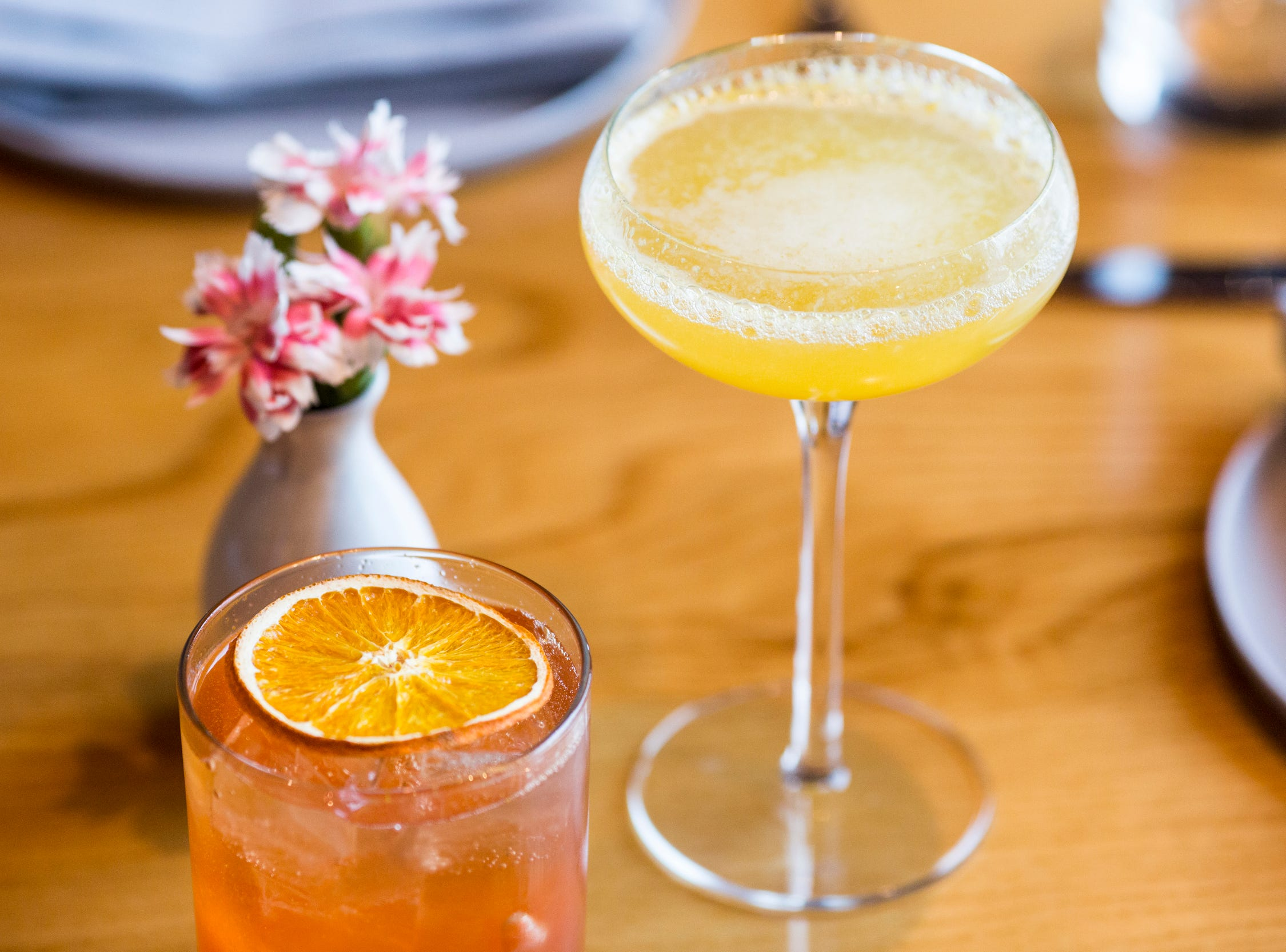 February 10, 2019 - A rose spritz and mimosa are available during Sunday brunch at PO Press Public House & Provisions in Collierville. PO Press Public House & Provisions is located at 148 N Main St. in Collierville.