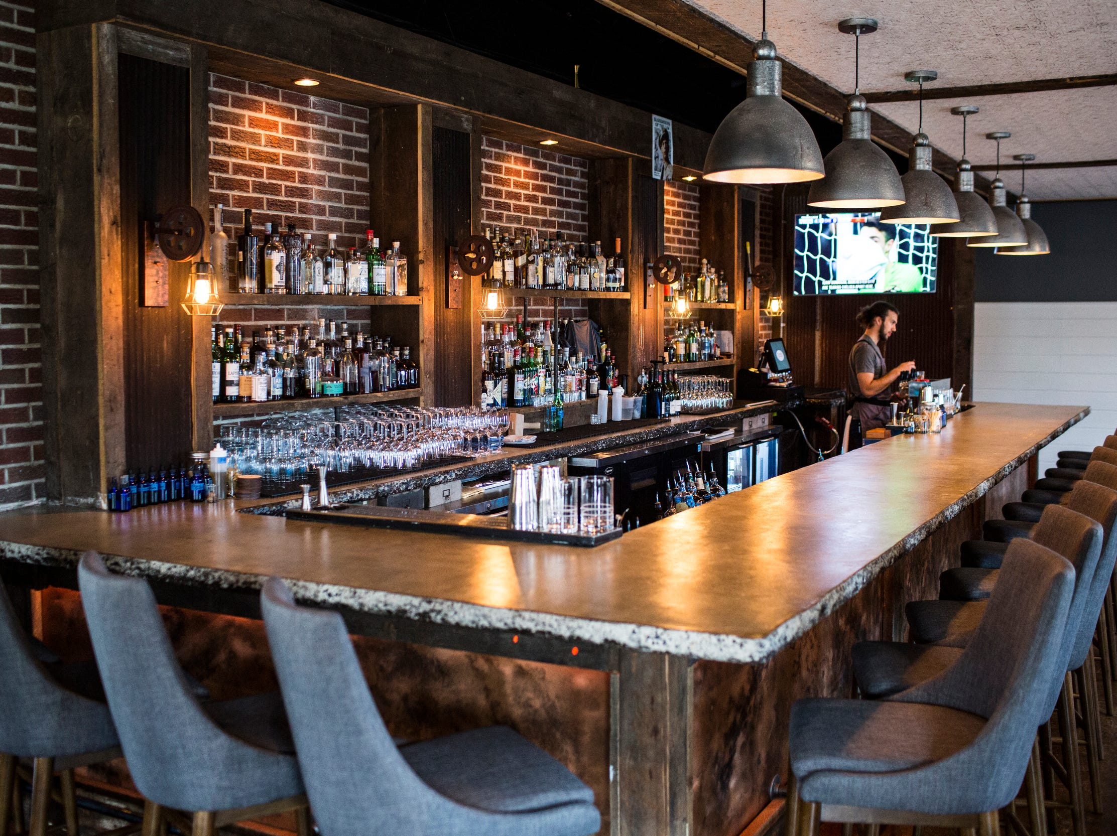 February 10, 2019 - Sunday brunch is available at PO Press Public House & Provisions in Collierville. PO Press Public House & Provisions is located at 148 N Main St. in Collierville.