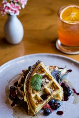 A waffle plate is available during Sunday brunch at P.O. Press Public House and Provisions.
