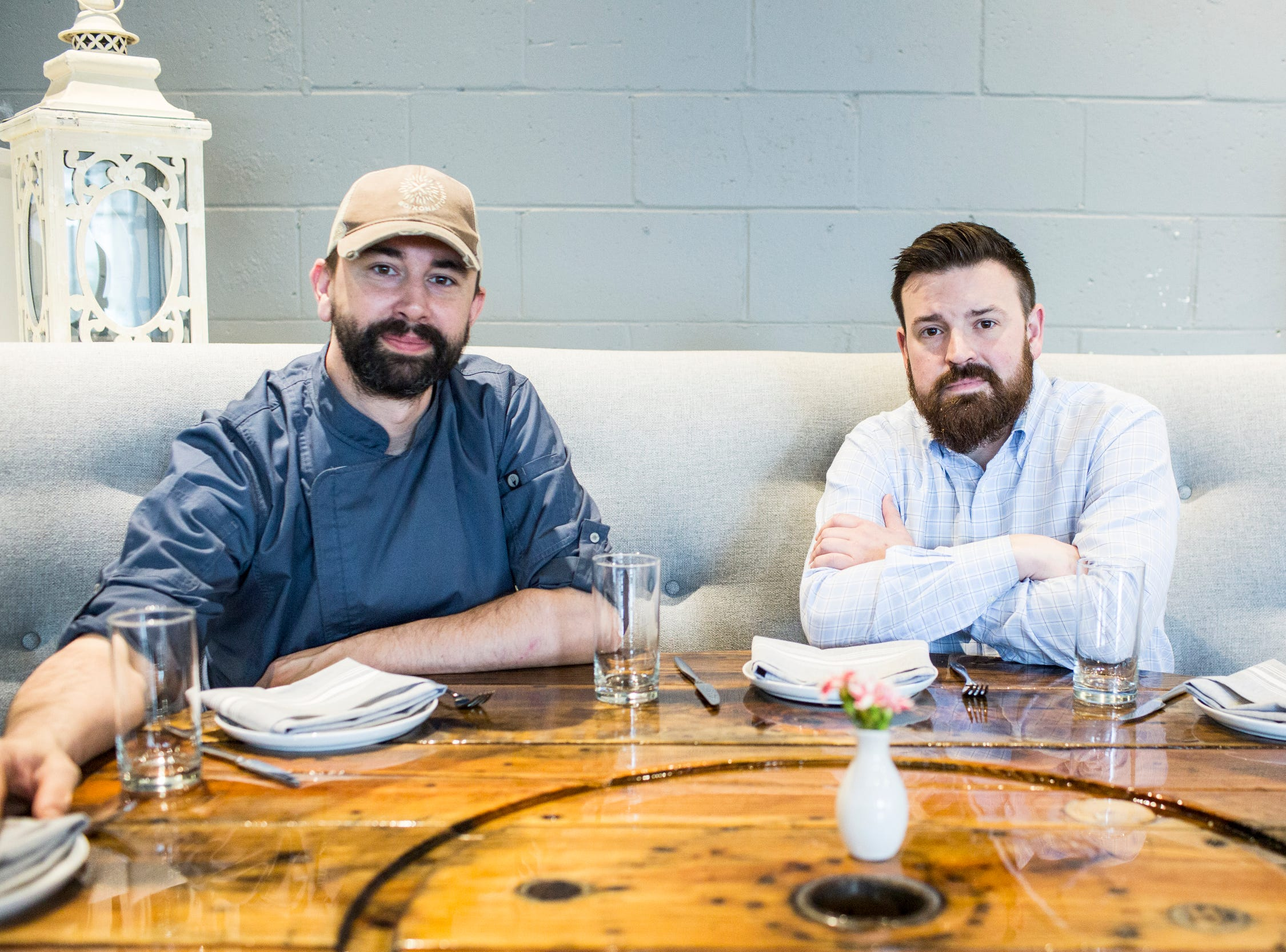 February 10, 2019 - Chef Jimmy Gentry, left, and co-owner Chris Thorn at PO Press Public House & Provisions in Collierville. PO Press Public House & Provisions is located at 148 N Main St. in Collierville.