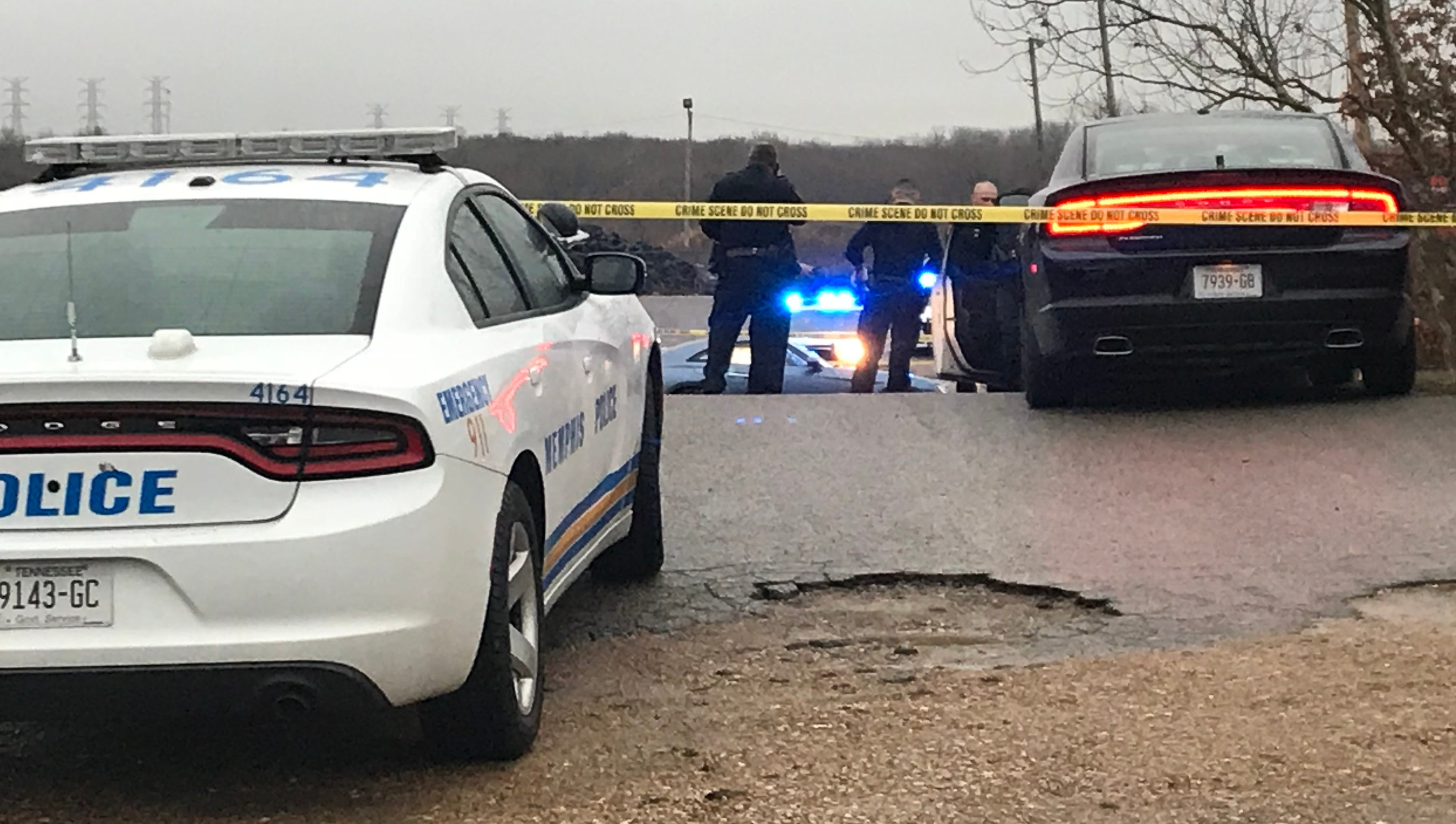 Police on the scene at the Memphis public works facility at 1514 N. Bellevue Blvd. on Monday, Feb. 11, 2019.