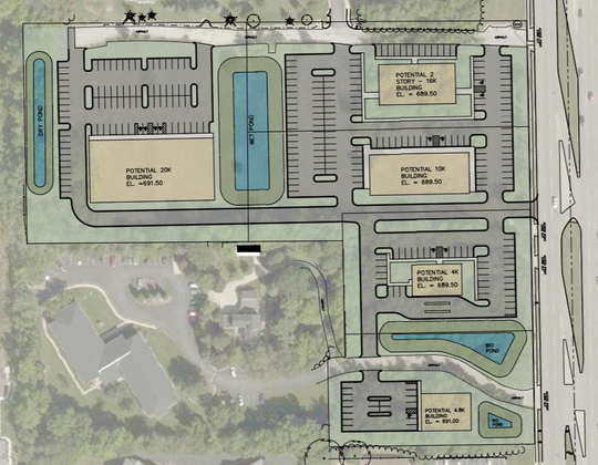 ICAP Development has proposed five commercial buildings on the former Jewish Home and Care Center property at 10865 and 10911 N. Port Washington Road.