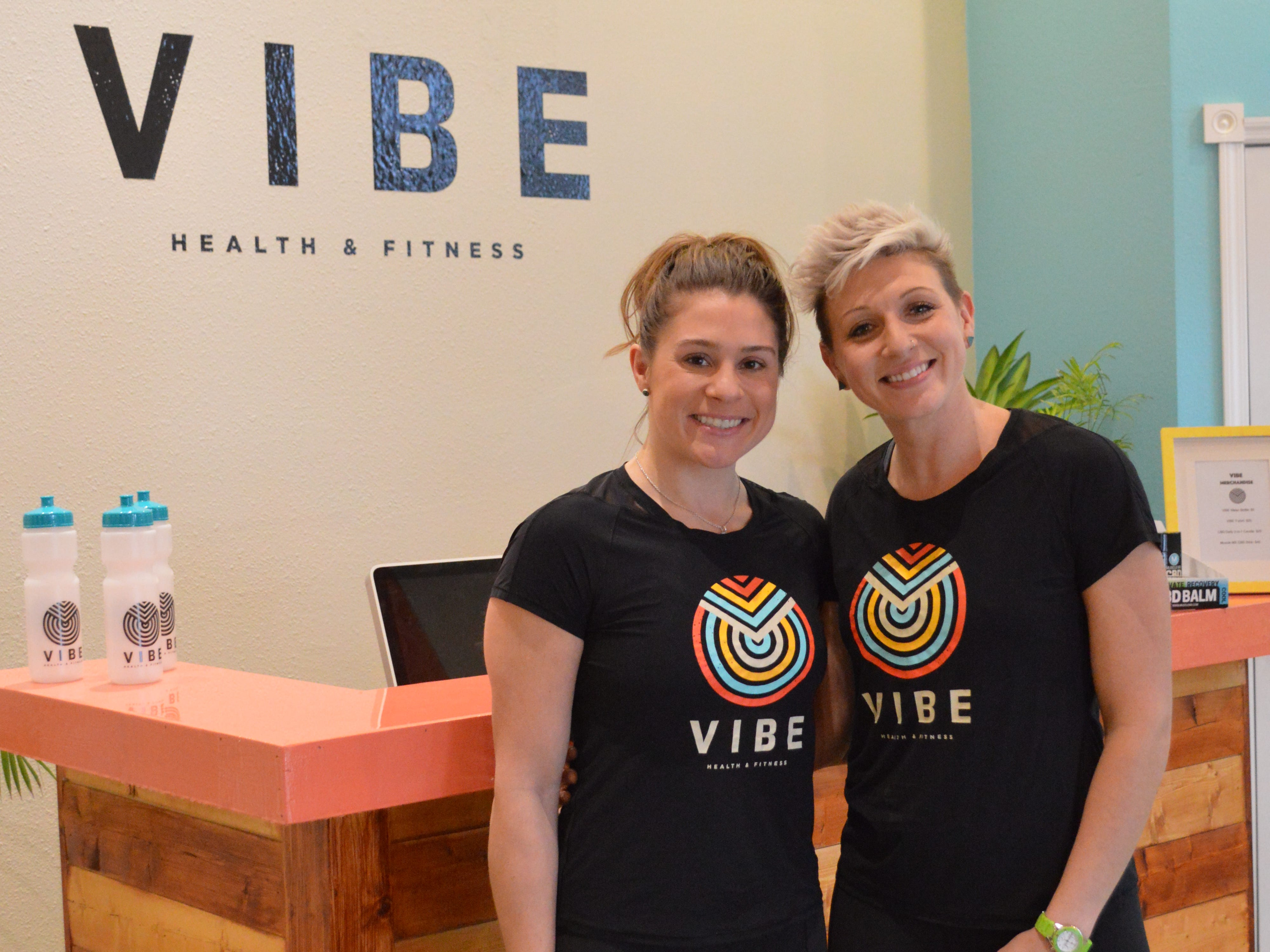 Samantha Link of Wauwatosa and Carly Chertos of Bay View opened VIBE Health and Fitness in Waukesha in January.
