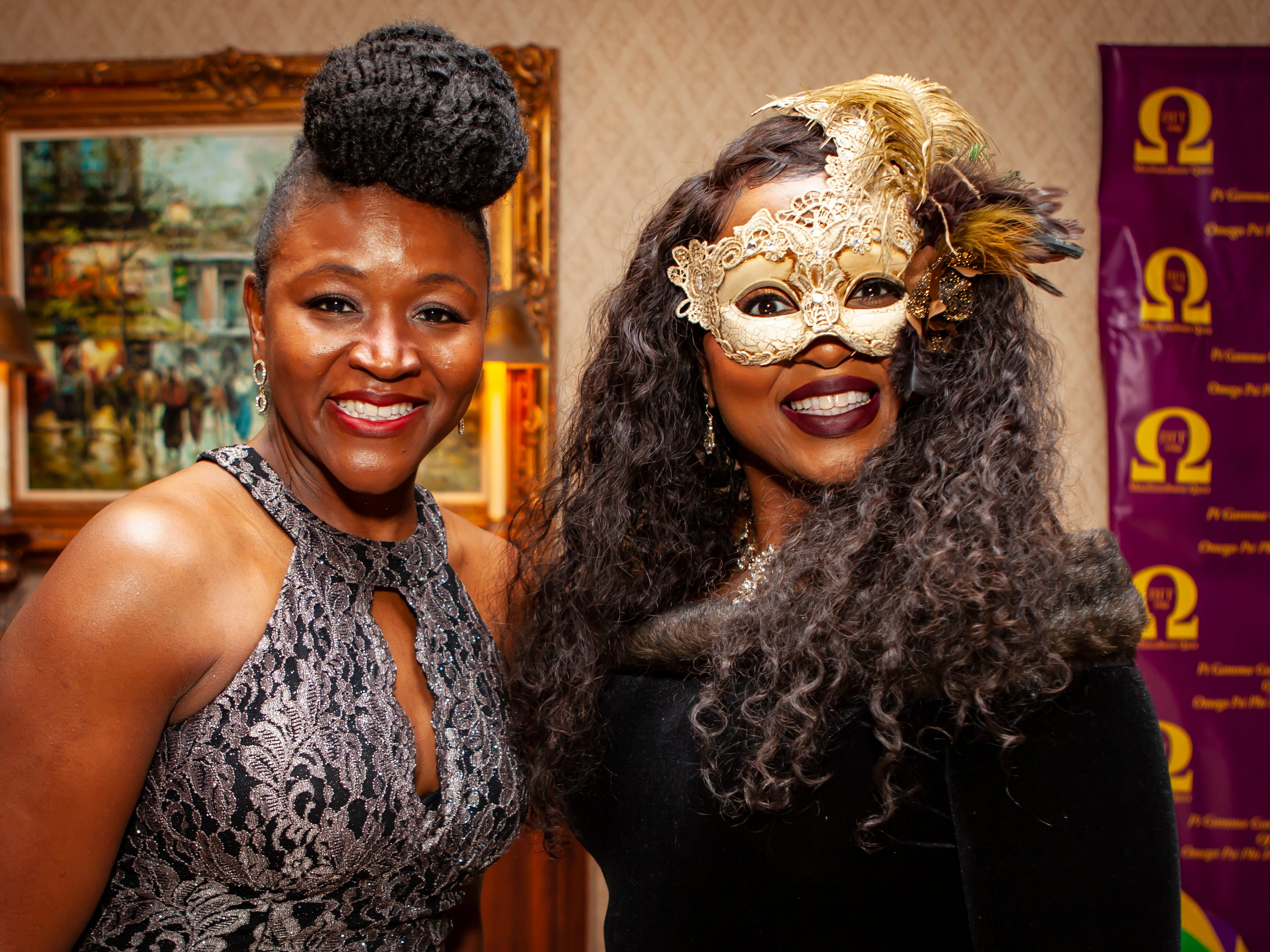 The Omega Psi Phi Mardi Gras party was held Saturday, Feb. 9, 2018 at Stones River Country Club in Murfreesboro.