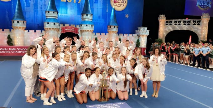 Blackman High School's cheerleading team took its seventh national championship title at the National High School Cheerleading Championship held at Disney World inOrlando, Florida, Feb. 10, 2019.