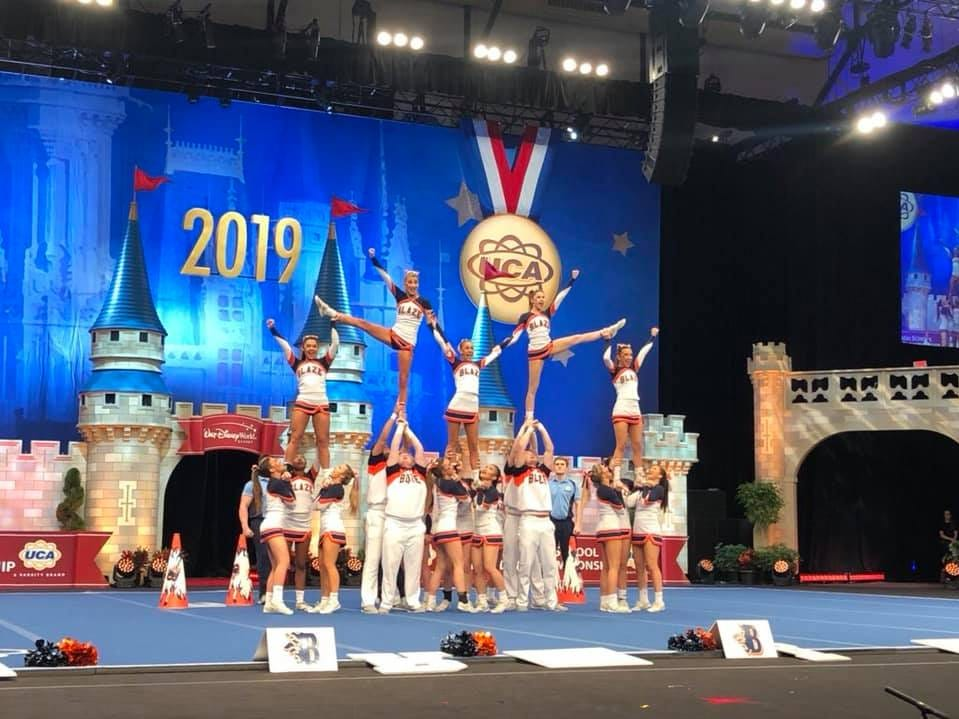 Blackman High School's cheerleading team took its seventh national championship title at the National High School Cheerleading Championship held at Disney World in Orlando, Florida, Sunday night.