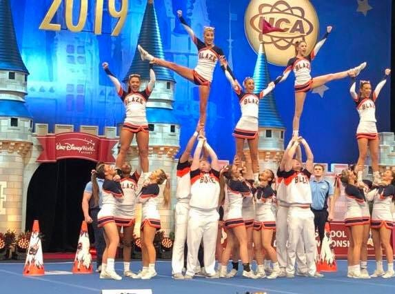 Blackman High School's cheerleading team took its seventh national championship title at the National High School Cheerleading Championship held at Disney World in Orlando, Florida, Feb. 10, 2019.