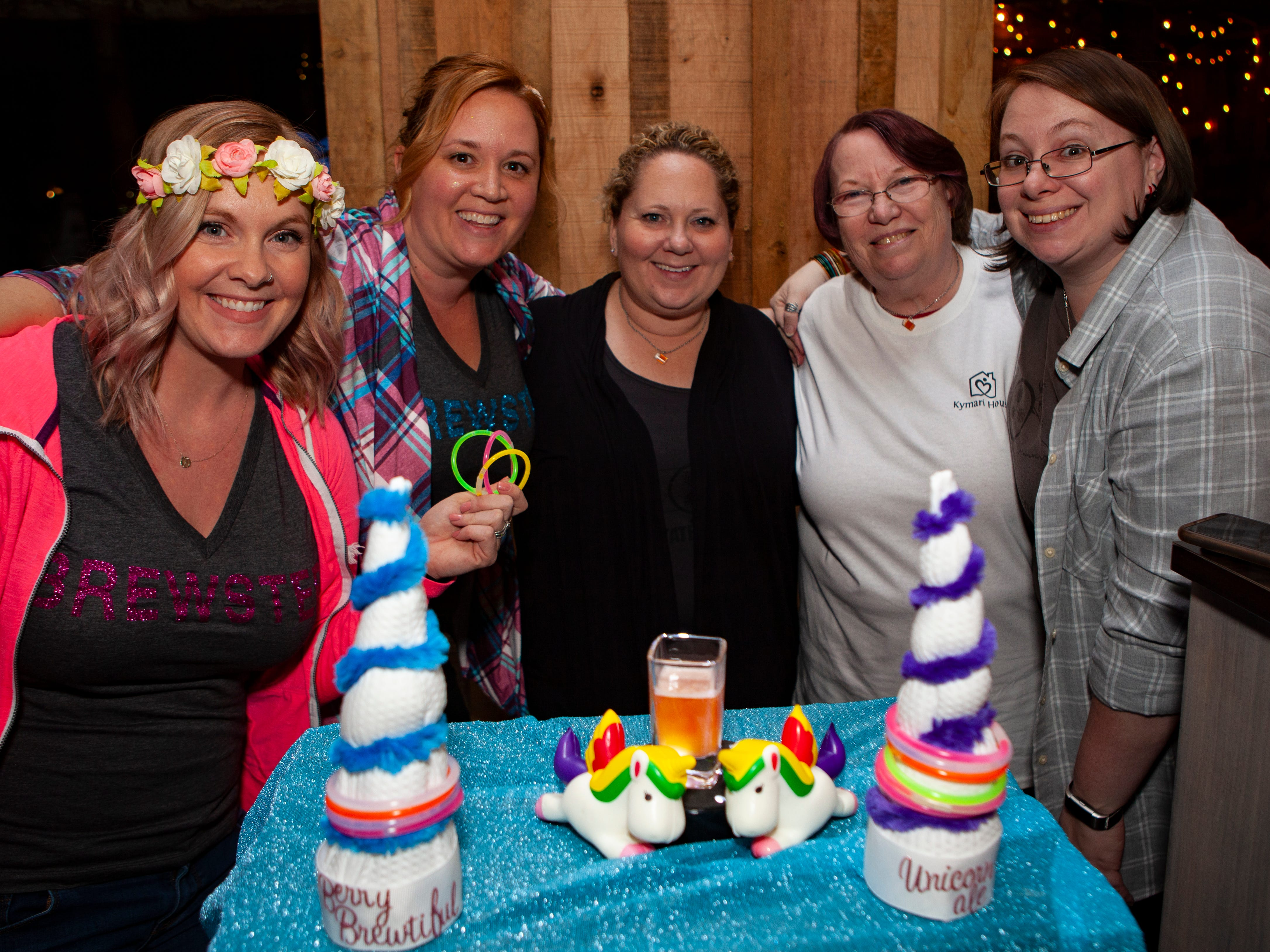 Cassie Ashbey, Alicia Kunkle, Tricia Pohlman, Linda  and Amanda Bimson at the third annual Battle of the Brews, a benefit for Kymari House Inc., held Saturday, Feb. 9, 2019 at The Grove at Williamson Place in Murfreesboro.