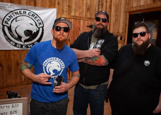 J.T. Gowen, Jeremy Taylor and Melvin Stewart of Panther Creek Brews at the third annual Battle of the Brews, a benefit for Kymari House Inc., held Saturday, Feb. 9, 2019 at The Grove at Williamson Place in Murfreesboro.