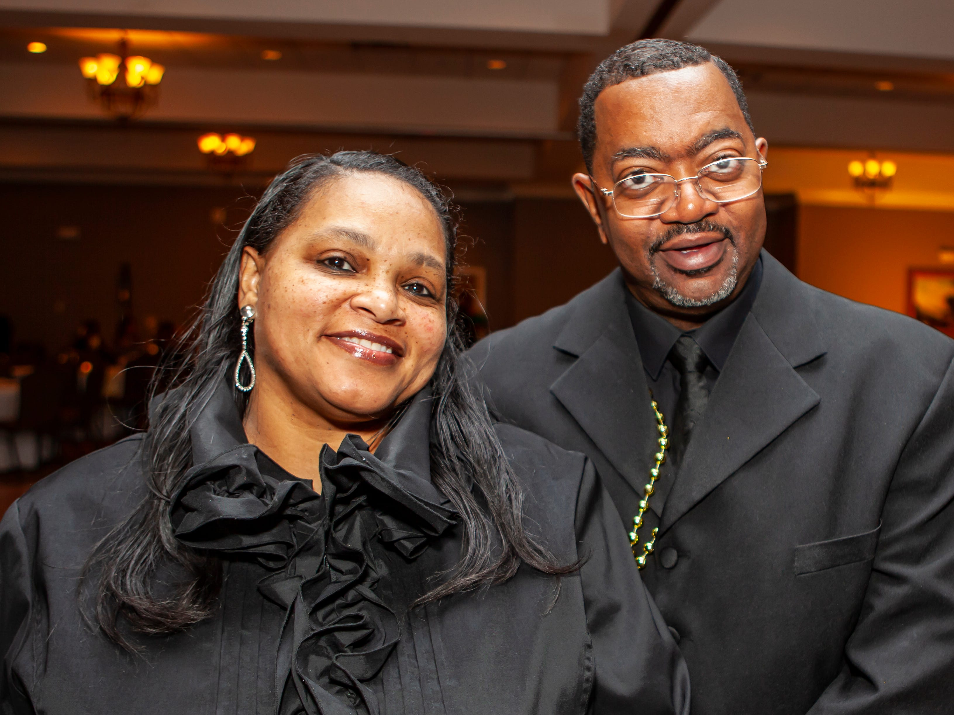 Carla and Michael Cawthon at the Omega Psi Phi Mardi Gras party held Saturday, Feb. 9, 2018 at Stones River Country Club in Murfreesboro.