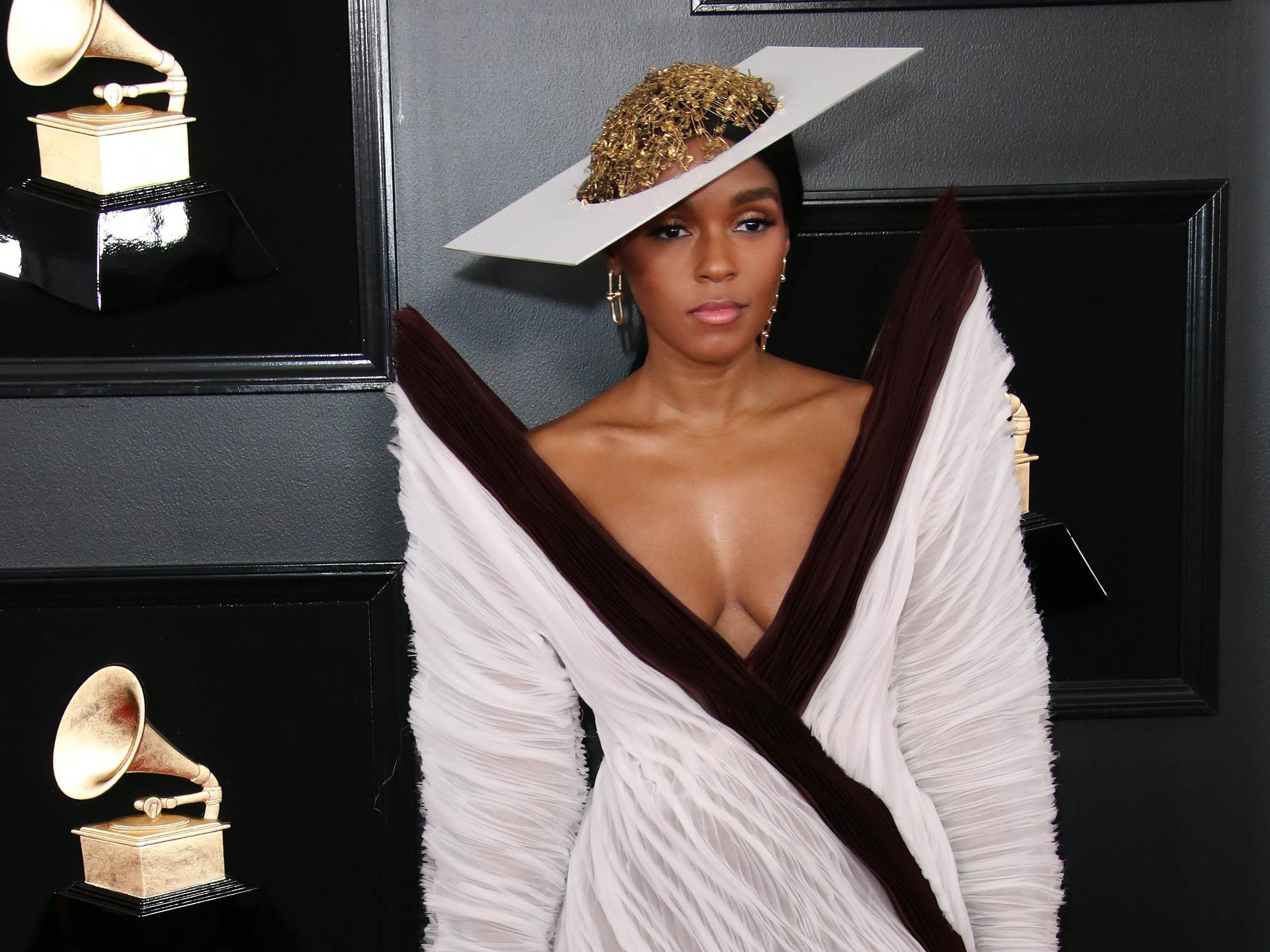 Janelle Monae attends the 61st Annual GRAMMY Awards on Feb. 10, 2019 at STAPLES Center in Los Angeles, Calif.
