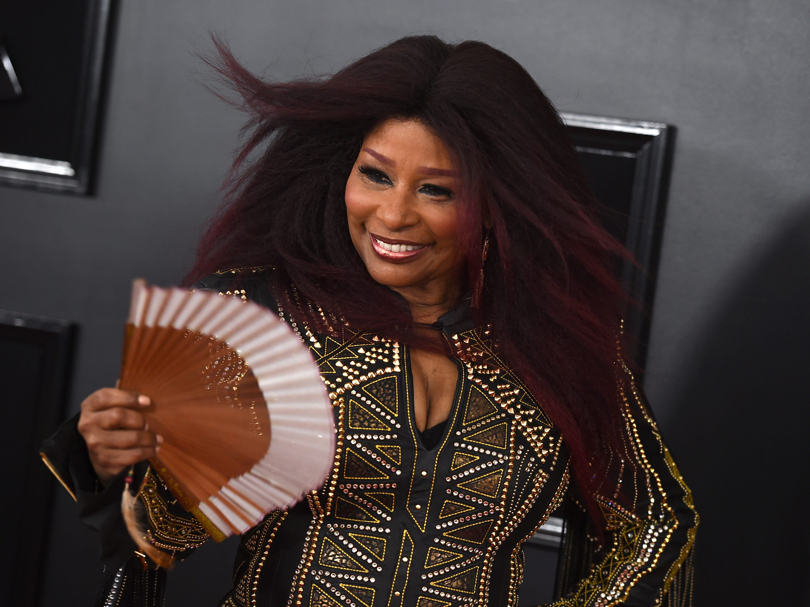 Chaka Khan arrives at the 61st annual Grammy Awards at the Staples Center on Sunday, Feb. 10, 2019, in Los Angeles.