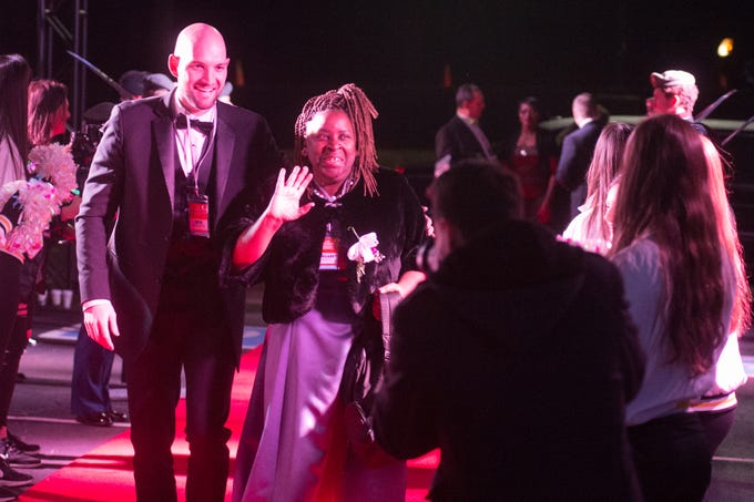 Honored guests and their buddies hit the red carpet to enter the Night to Shine event held at NorthField Church in Gallatin on Friday, Feb, 8. The Night to Shine is a prom night experience presented by Tim Tebow Foundation to celebrate God's love for people with special needs.