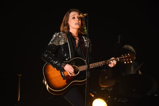 "Brandi Carlile performs ""The Joke""  during the 61st Annual GRAMMY Awards on Feb. 10, 2019 at STAPLES Center in Los Angeles, Calif."