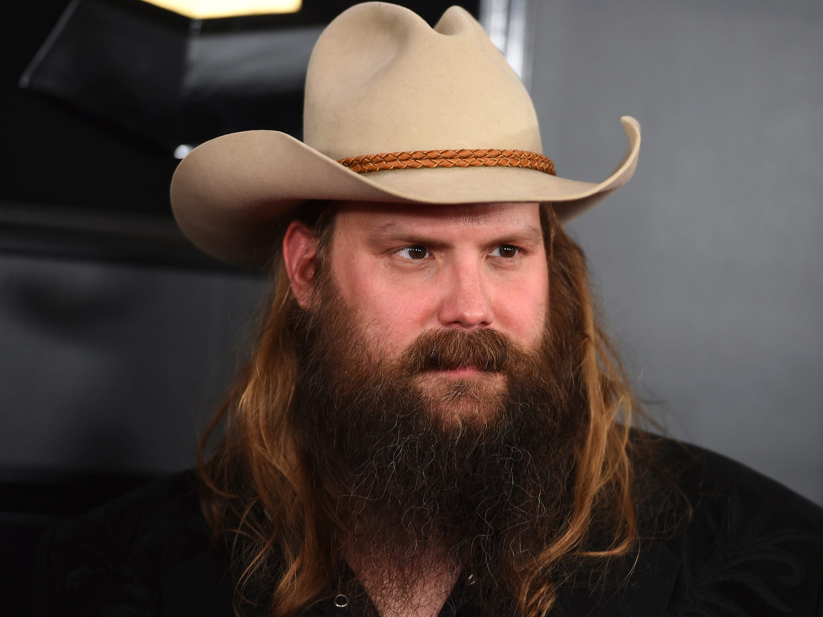 Chris Stapleton arrives at the 61st annual Grammy Awards at the Staples Center on Sunday, Feb. 10, 2019, in Los Angeles.