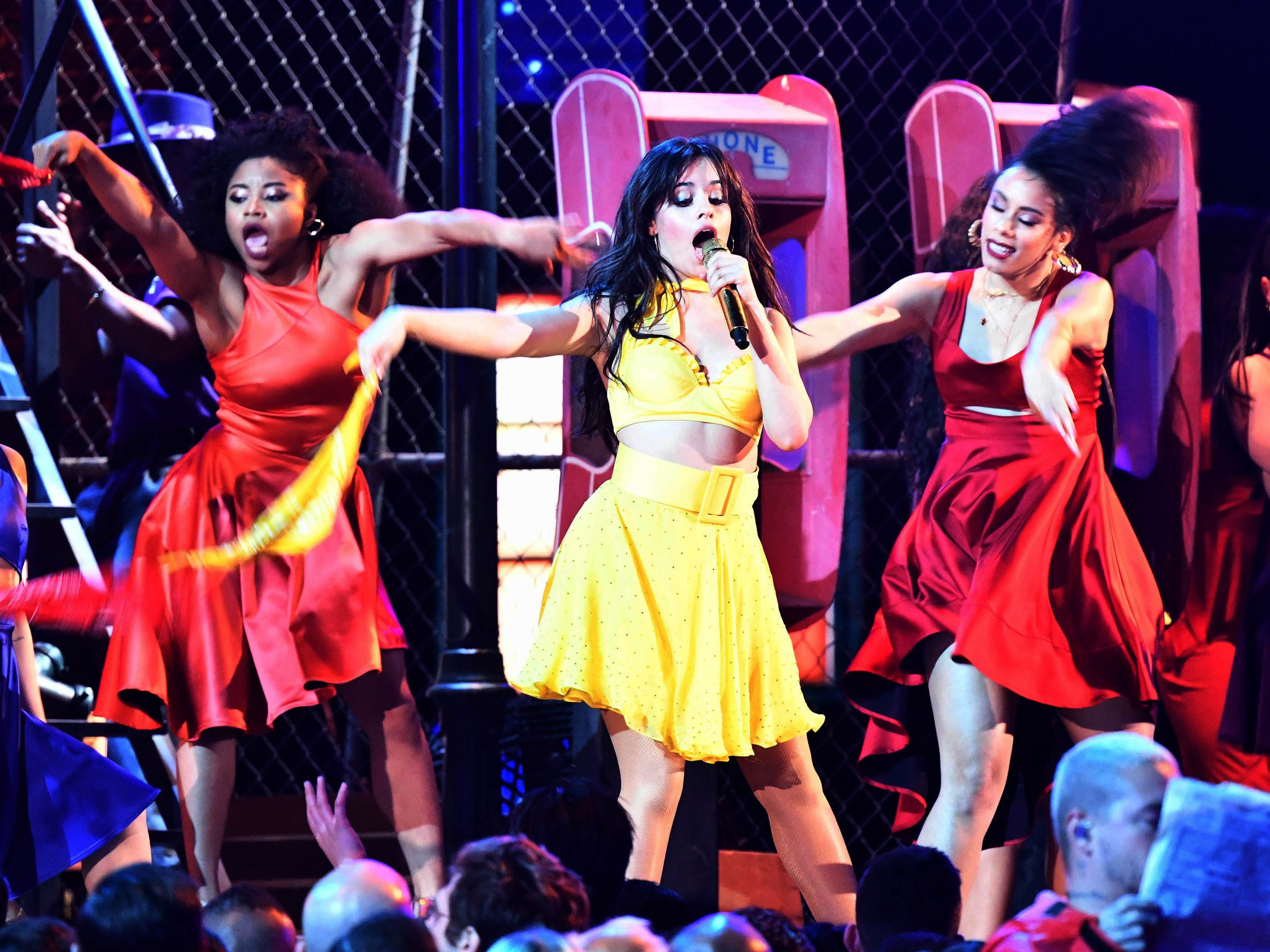 "Camila Cabello performs ""Havana"" during the 61st Annual GRAMMY Awards on Feb. 10, 2019 at STAPLES Center in Los Angeles, Calif."