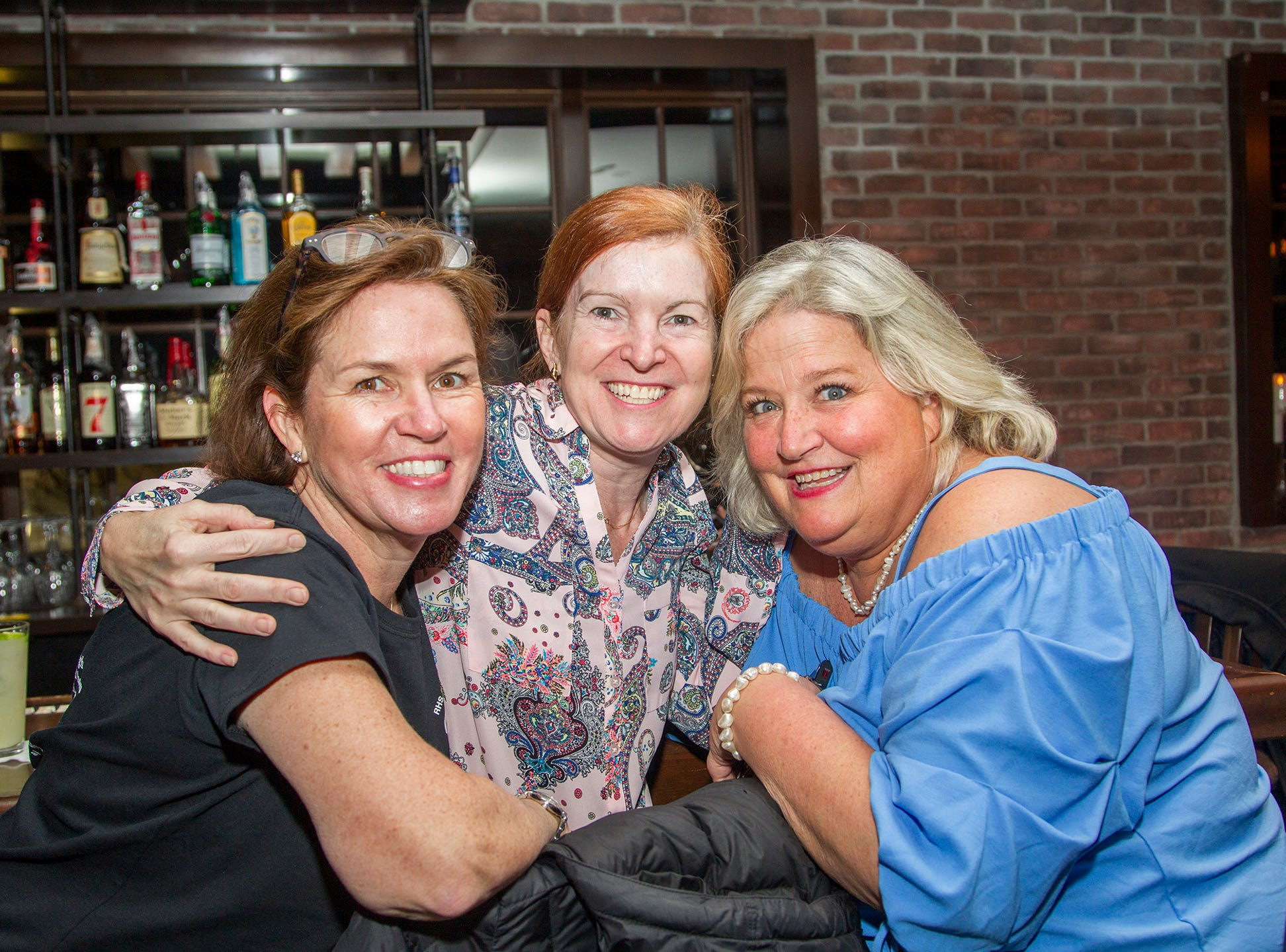 Gail MC Carthy, Meghan Bracken, Leigh Warren. Ridgewood High School 2019 Jamboree after party at Park West Loft in Ridgewood.  2/9/2019