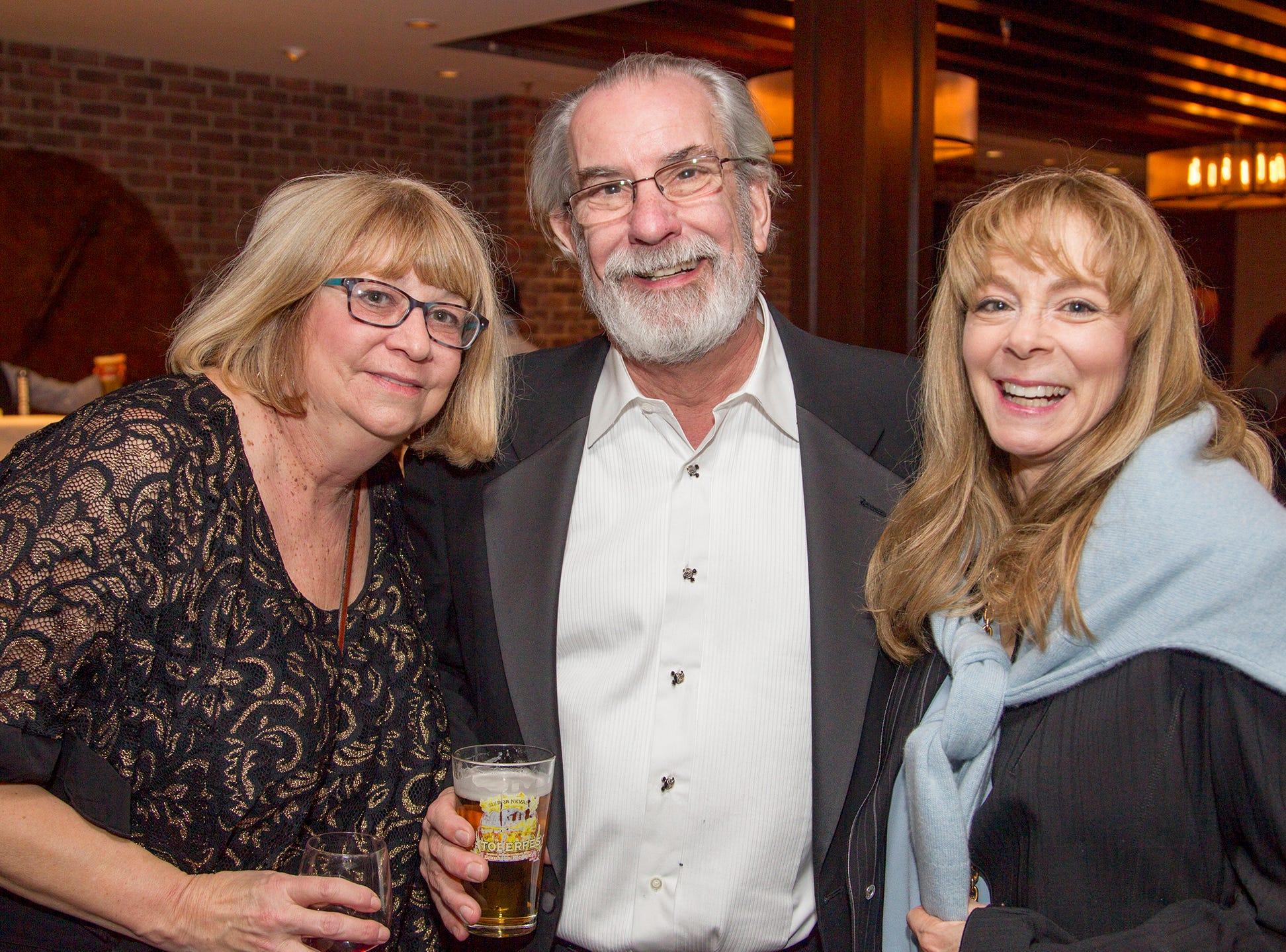 Nancy Eager, Wayne Angelbeck, Mindy Dauber. Ridgewood High School 2019 Jamboree after party at Park West Loft in Ridgewood.  2/9/2019