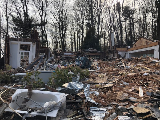 14 Undercliff Road, a mansion built in 1865 that sold last year for over $3 million, was demolished this weekend before the scheduled hearings with Montclair's Zoning Board of Adjustment. February 10, 2019.