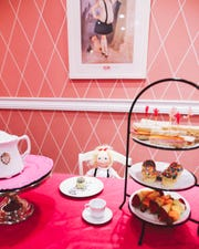 Afternoon tea at the Eloise Tea Room at The Plaza, NYC