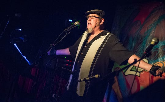 "X.Ray Burns, former co-host of Jersey City based WFMU's Glen Jones Programme, performs at Maxwell's in 2012 during a ""Weird NJ"" event. Photo by Jeff Moore."