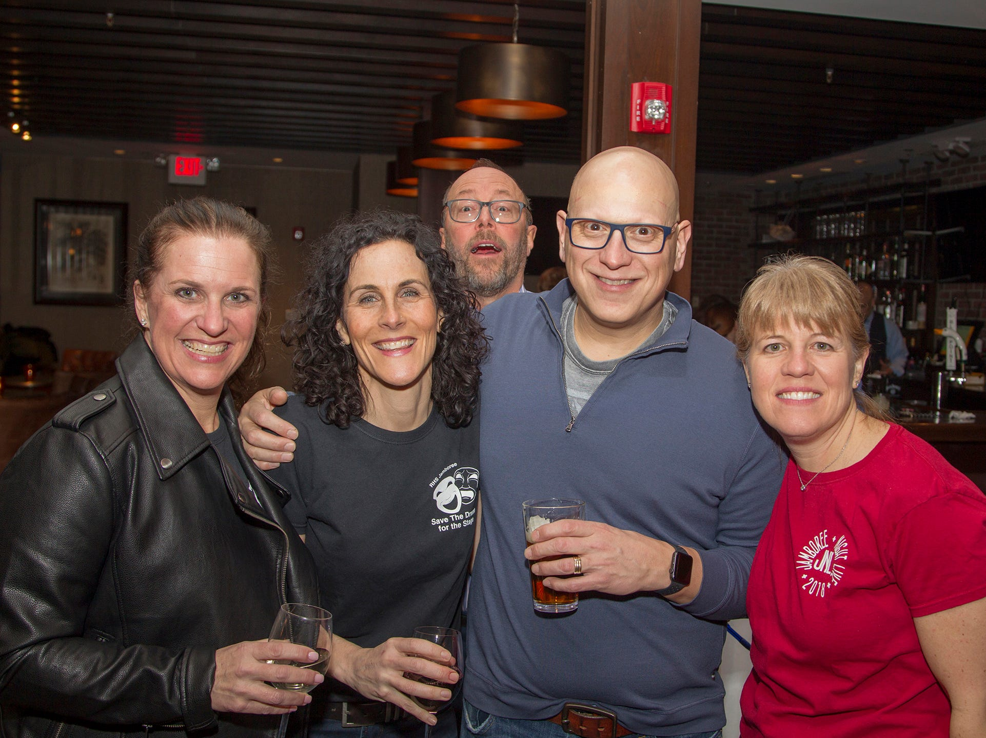 Michele Anderson, Maria Cambria, Tony Cambria, Mark and Andrea Stirer. Ridgewood High School 2019 Jamboree after party at Park West Loft in Ridgewood.  2/9/2019