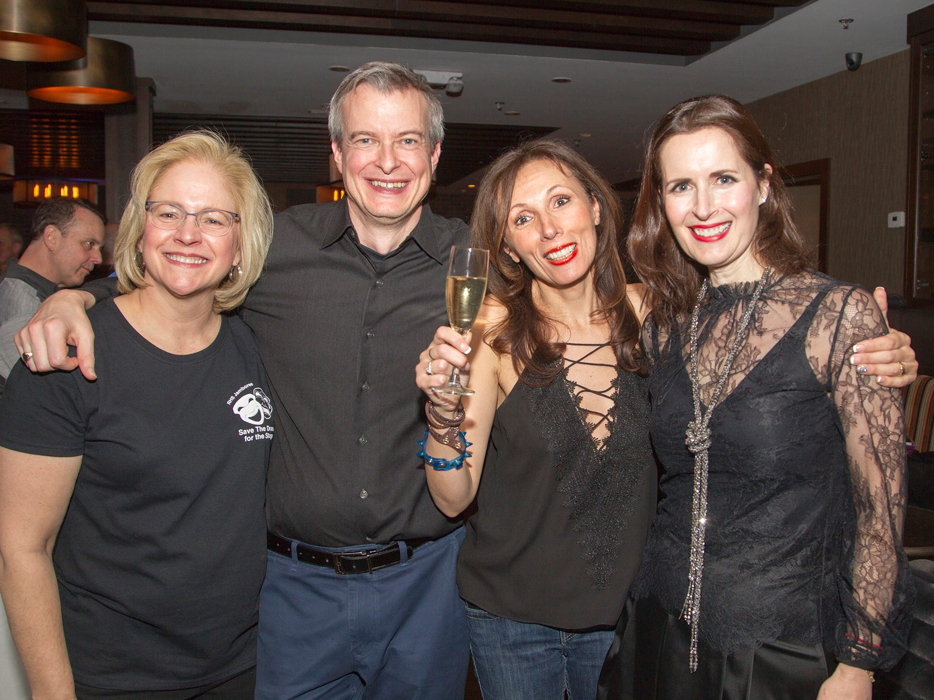 Ann Wheaton, Michael Leluc, Isabella Leluc, Stacey Tsapatsaris. Ridgewood High School 2019 Jamboree after party at Park West Loft in Ridgewood.  2/9/2019