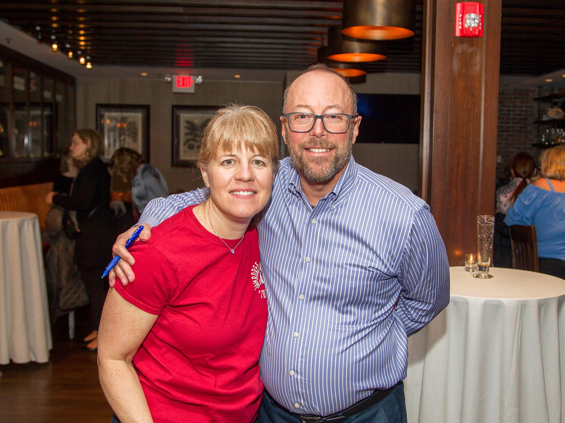 Andrea and Mark Stirer. Ridgewood High School 2019 Jamboree after party at Park West Loft in Ridgewood.  2/9/2019