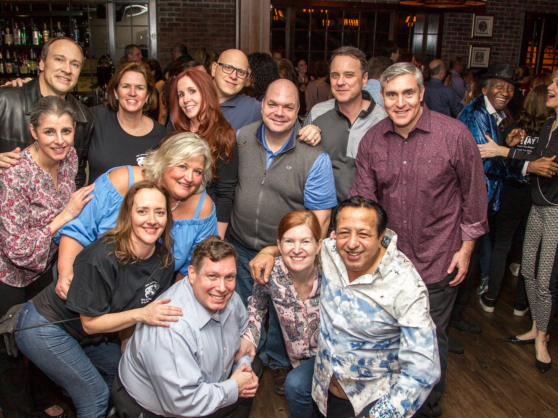 Past and present producers, PJ Lalwani, James Sharo, Meghan Bracken, Dru Pierce, Leigh Warren, Brian Warren, Gail MC Carthy, Vivian Muldoon, Mike Muldoon, Fred Jubitz, Erin Taddel, TOny Cambria. Ridgewood High School 2019 Jamboree after party at Park West Loft in Ridgewood.  2/9/2019