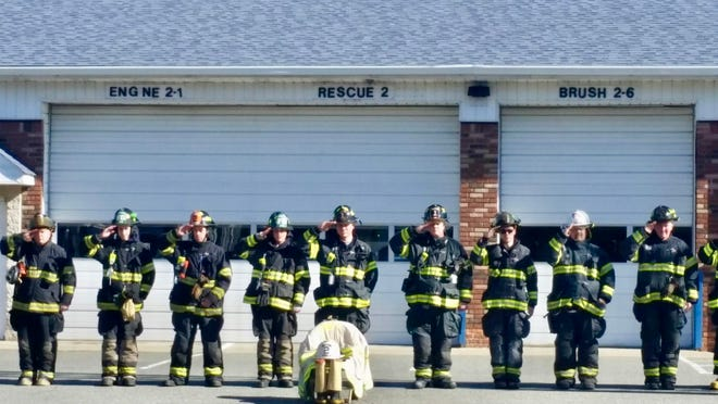 Pequannock firefighters honor Edwin Ver Hage, who died on Feb. 1.