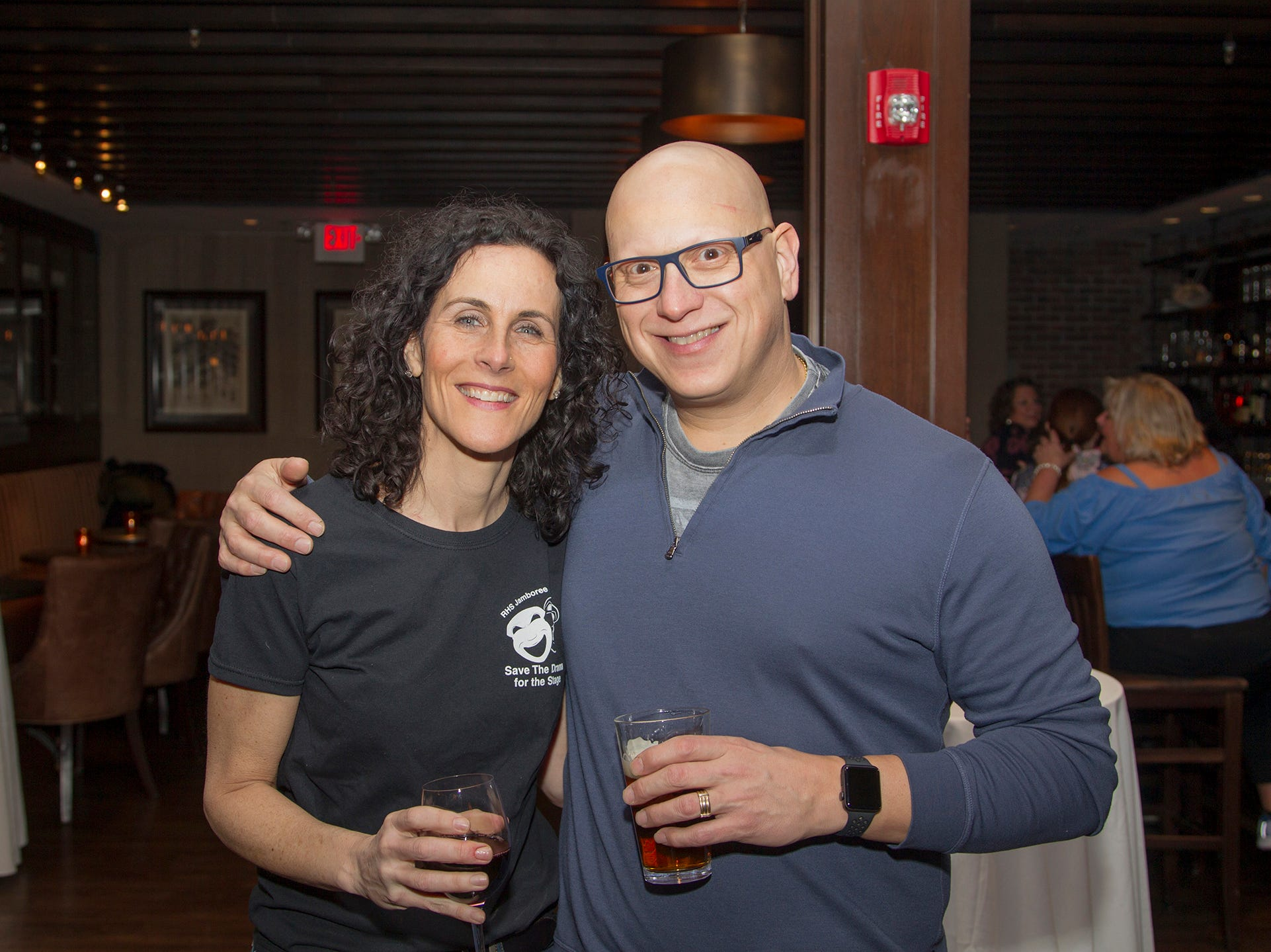 Maria and Tony Cambria. Ridgewood High School 2019 Jamboree after party at Park West Loft in Ridgewood.  2/9/2019