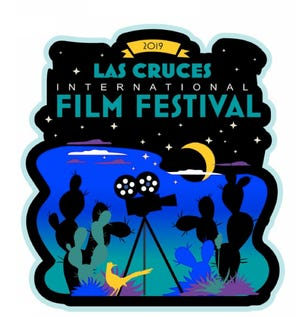 The official poster for the 2019 Las Cruces Film Festival, designed by artist Christina Ballew. This year's festival will run from Feb. 19-24.