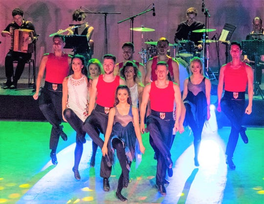 The dance troupe features male and female dancers.