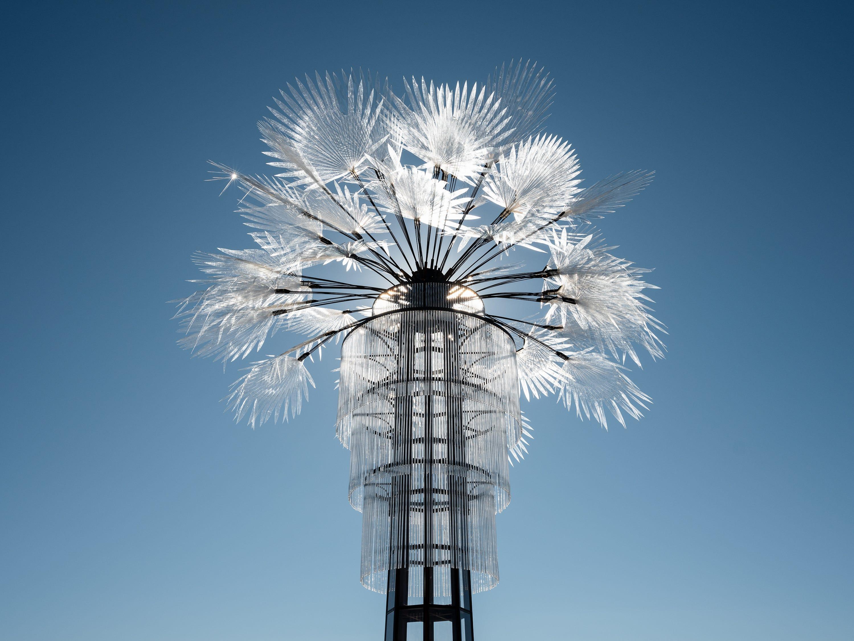"""Ghost Palm"" by Kathleen Ryan for Desert X 2019"