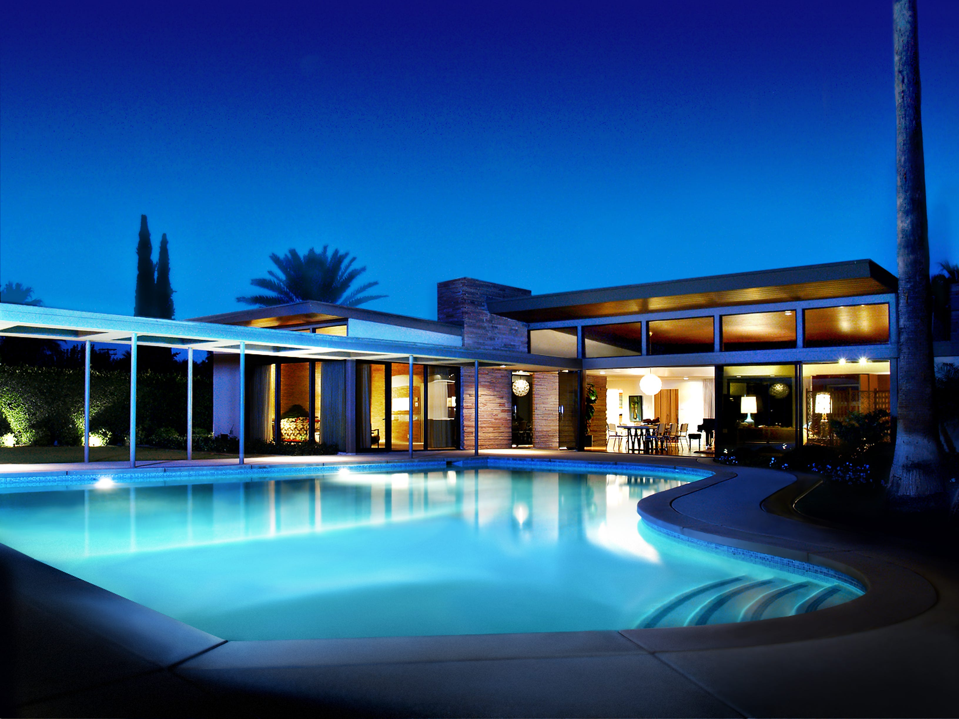 The Sinatra House by E. Stewart Williams in Palm Springs