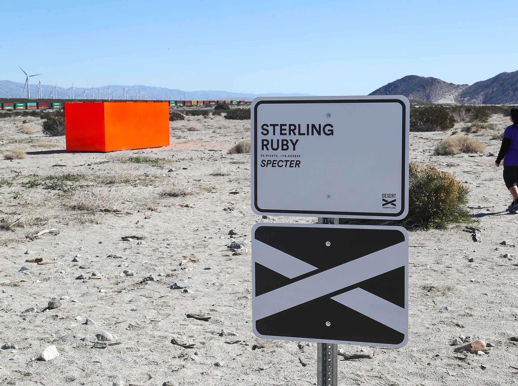"""Specter"" by Sterling Ruby is one of the Desert X art installations near Snow Creek Road and Hwy 111 in Palm Springs, February 11, 2019."