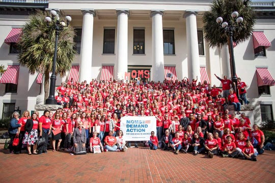 "Moms Demand Action, a volunteer group that advocates for ""gun sense"" laws to reduce firearm-related violence, held an advocacy day Wednesday in Tallahassee."