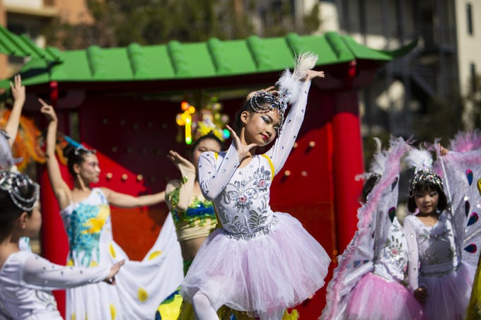 The Hope Chinese School performs at the Chinese Week Culture and Cuisine Festival on Feb. 10, 2019, in Margaret T. Hance Park.