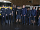 Firefighters with Glendale Fire Department 154 stand in the fire truck bay at their station on Feb. 7, 2019, in Glendale.