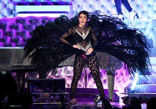 LOS ANGELES, CA - FEBRUARY 10:  Cardi B performs onstage during the 61st Annual GRAMMY Awards at Staples Center on February 10, 2019 in Los Angeles, California.  (Photo by Kevin Winter/Getty Images for The Recording Academy)