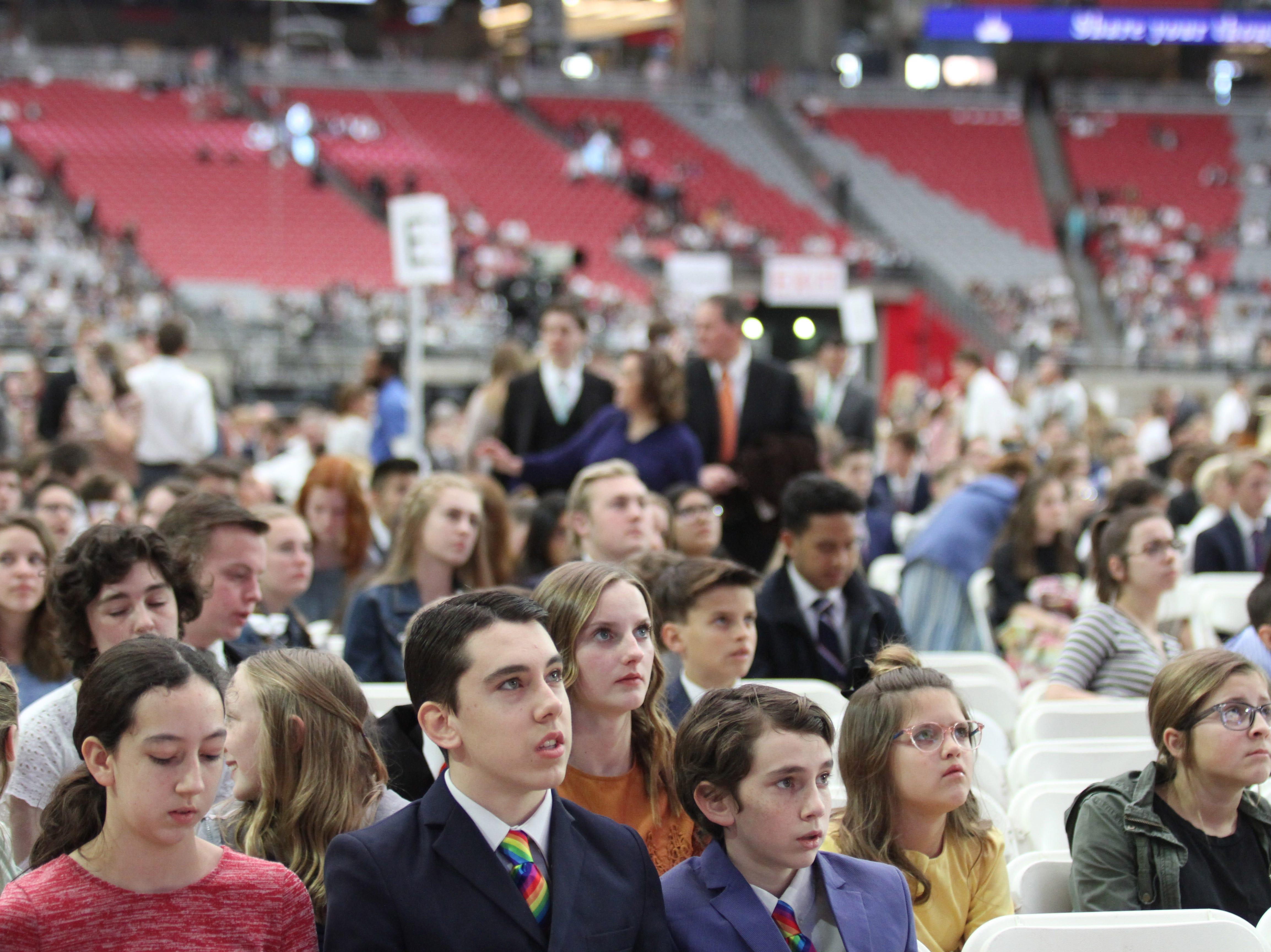 Thousands gather to hear President M. Nelson speak at State Farm Stadium in Glendale, Arizona, Feb. 10, 2019.