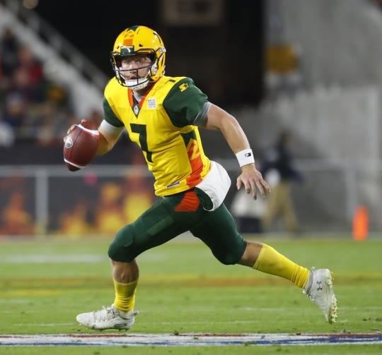 John Wolford threw two touchdowns in the Hotshots' win over the Express.