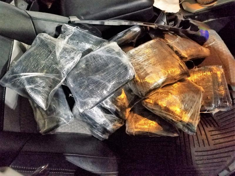 CBP Yuma sector canines bust two smuggling attempts of over $180,000 of meth coming to U.S.