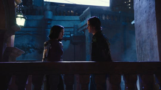 "Rosa Salazar and Keean Johnson star in ""Alita: Battle Angel."""
